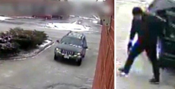 Police have released security-camera images of a vehicle and suspect wanted in their investigation of a fatal double shooting in Vaughan on March 15.