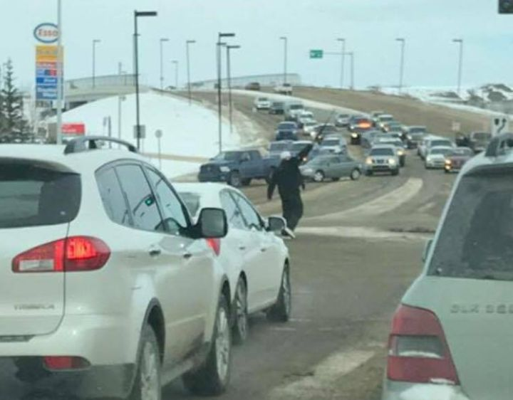 A man with a firearm was seen at the intersection of 137 Avenue and 50 Street Monday, March 13, 2017.