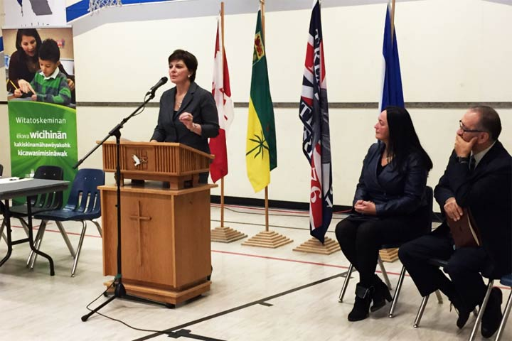 An event was held Wednesday in Saskatoon to mark the formation of a Professional Development School for indigenous teachers.