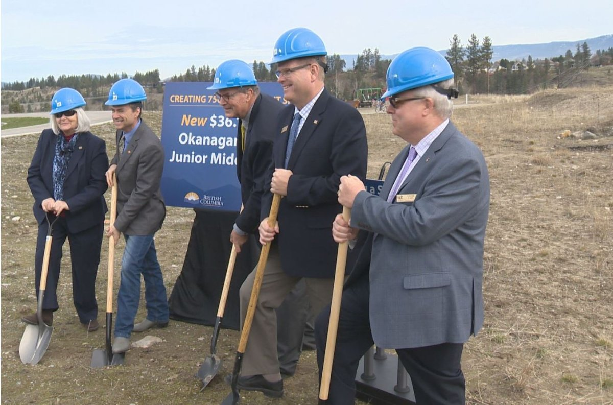 Breaking ground on a new middle school in Kelowna Friday morning.