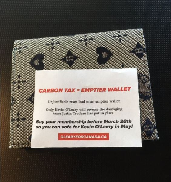 This empty wallet was found by an AM640 employee outside of the station's building in downtown Toronto.