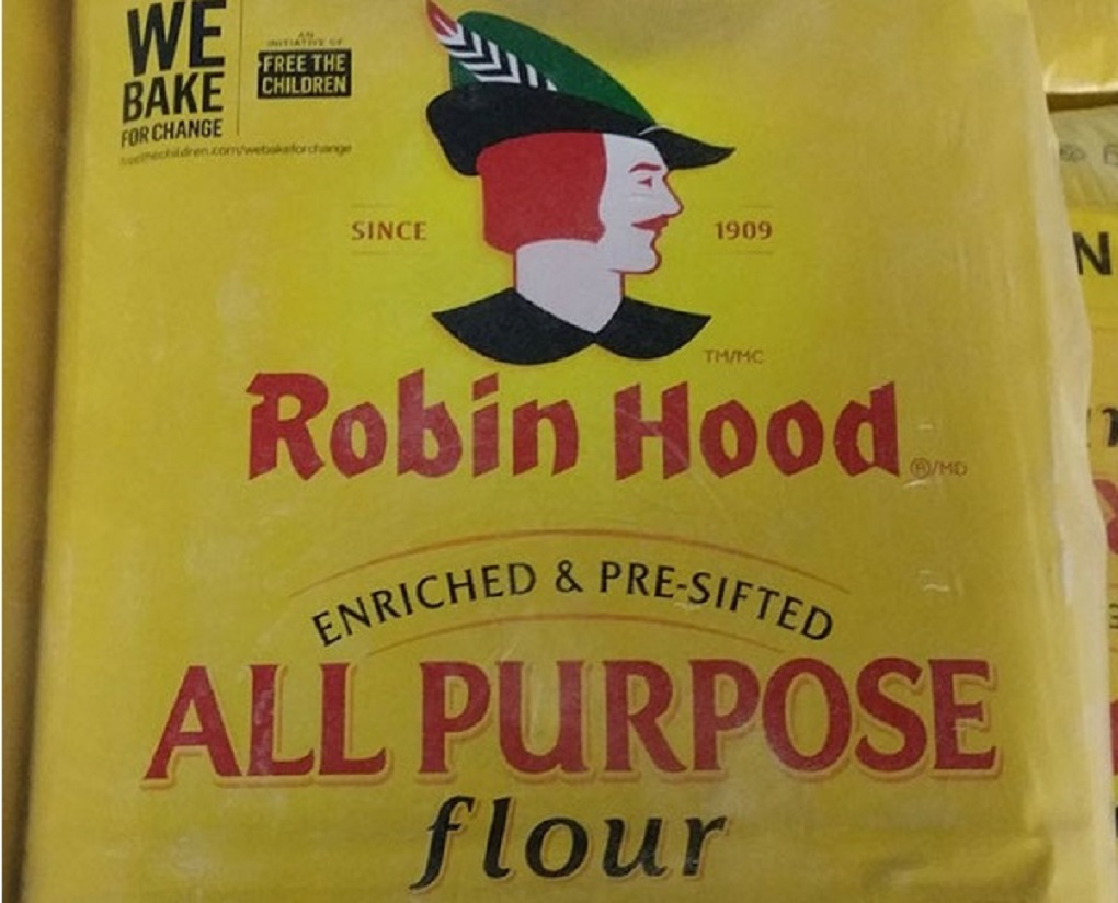10 kg bags of Robin Hood Brand All Purpose Flour were recalled for possible E. coli contamination on March 28, 2017.