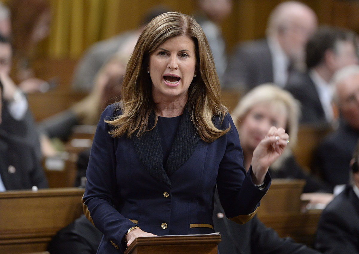 Interim Conservative Leader Rona Ambrose asks a question during Question Period in the House of Commons in Ottawa, Thursday, March 23, 2017. Ambrose wants all judges to undergo comprehensive training in sexual assault law.