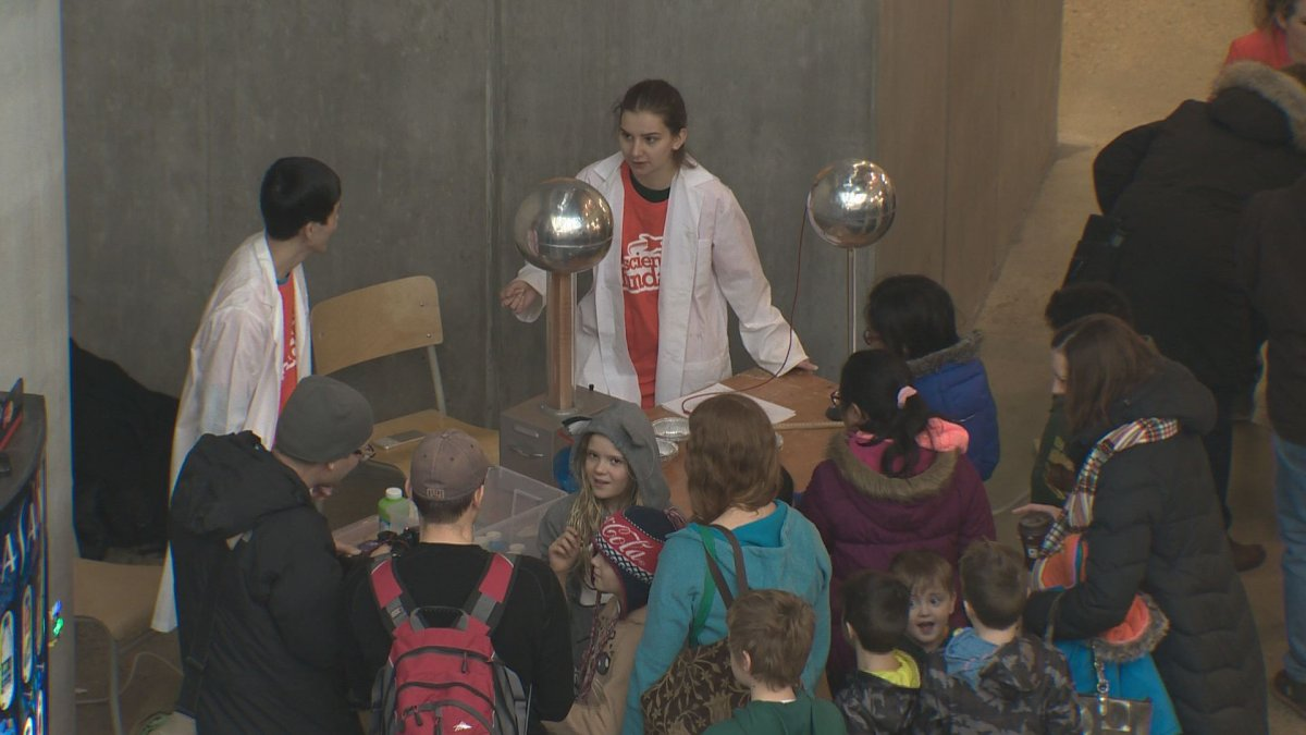 Science fun day at the University of Alberta.