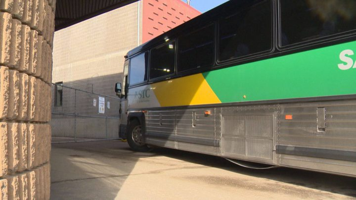 Saskatchewan Transportation Company has three unused 22-passenger buses that will be sold off with the rest of its assets when the company is wound down at the end of May.