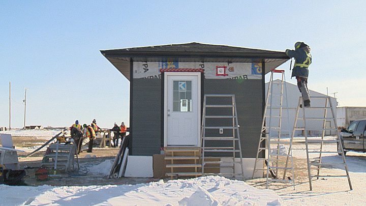Thirteen First Nations students are spending six weekends learning how to build a tiny house from start to finish.