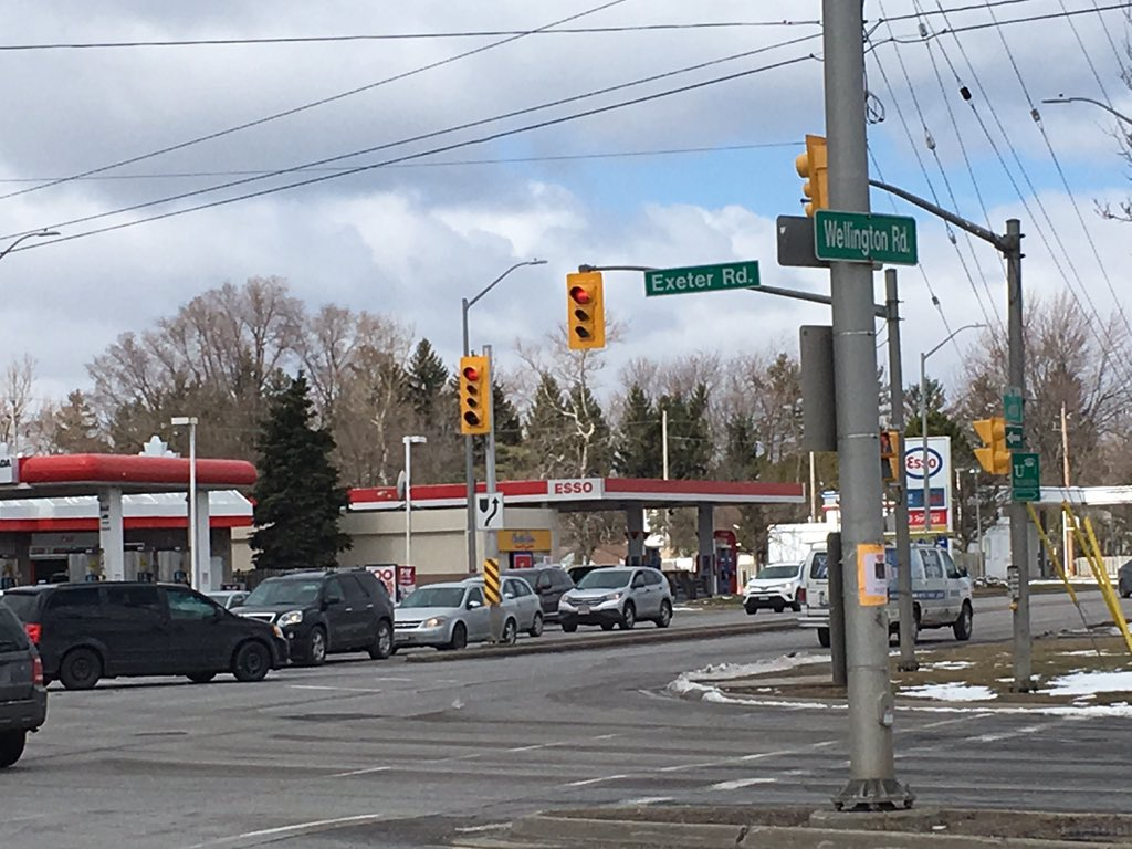 Wellington Road and Exeter Road topped the list again for London's worst intersection when it comes to collisions.