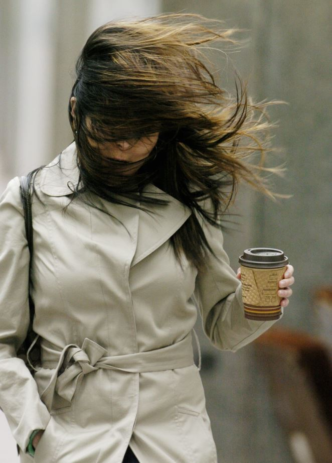 Windy weather is expected for Sunday afternoon.