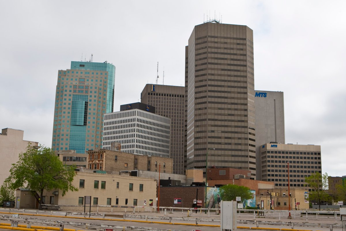The Winnipeg skyline is pictured Monday, May 23, 2011.