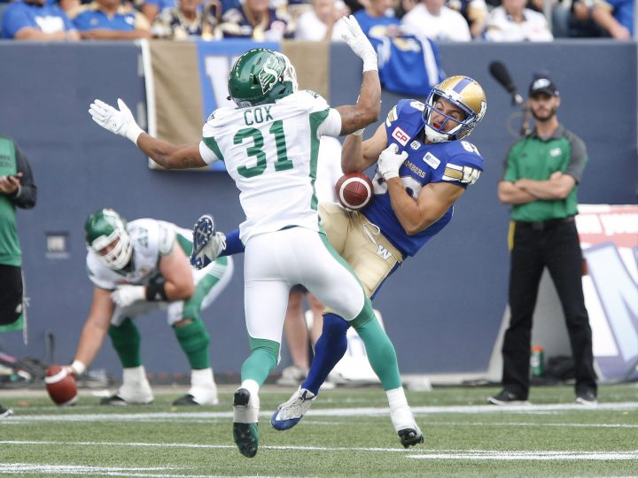 The Saskatchewan Roughriders have released Justin Cox after the team was informed he was involved in another domestic violence incident.