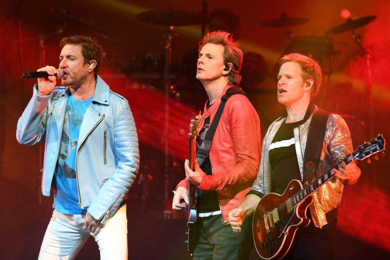 Simon Le Bon, John Taylor, Dominic Brown Duran Duran in concert at Hard Rock Live, Hollywood, USA - 05 Apr 2017.
