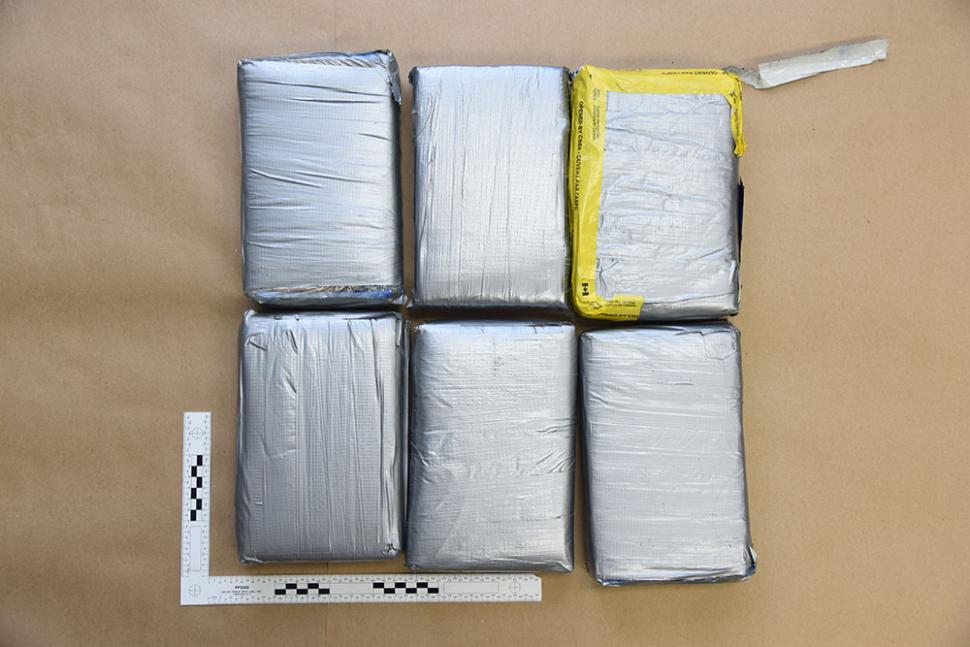 Cocaine bricks RCMP say were seized at Toronto International Airport.