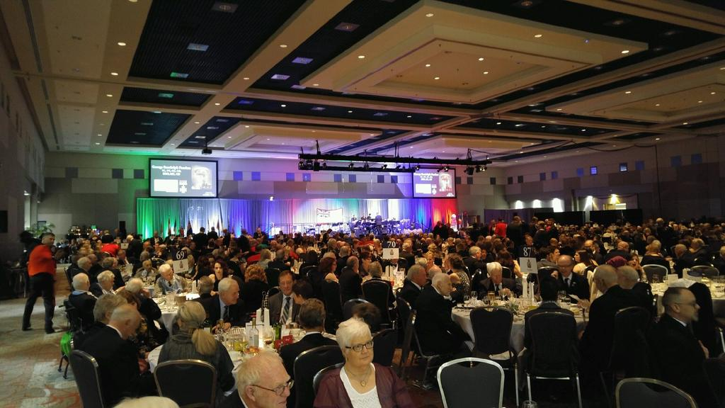 Hundreds turned out to the London Convention Centre on April 1, 2017, to mark the 100th anniversary of the Battle of Vimy Ridge.