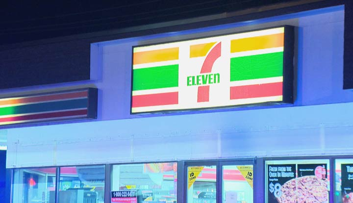 The Air Support Unit directed Saskatoon officers looking for a stolen vehicle to a 7-Eleven early Saturday morning.