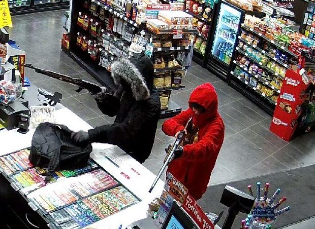 RCMP have released photos in hopes of jogging the memory of anyone who may have witnessed an armed robbery at the Co-op Gas Bar in Blackfalds on Jan. 5.