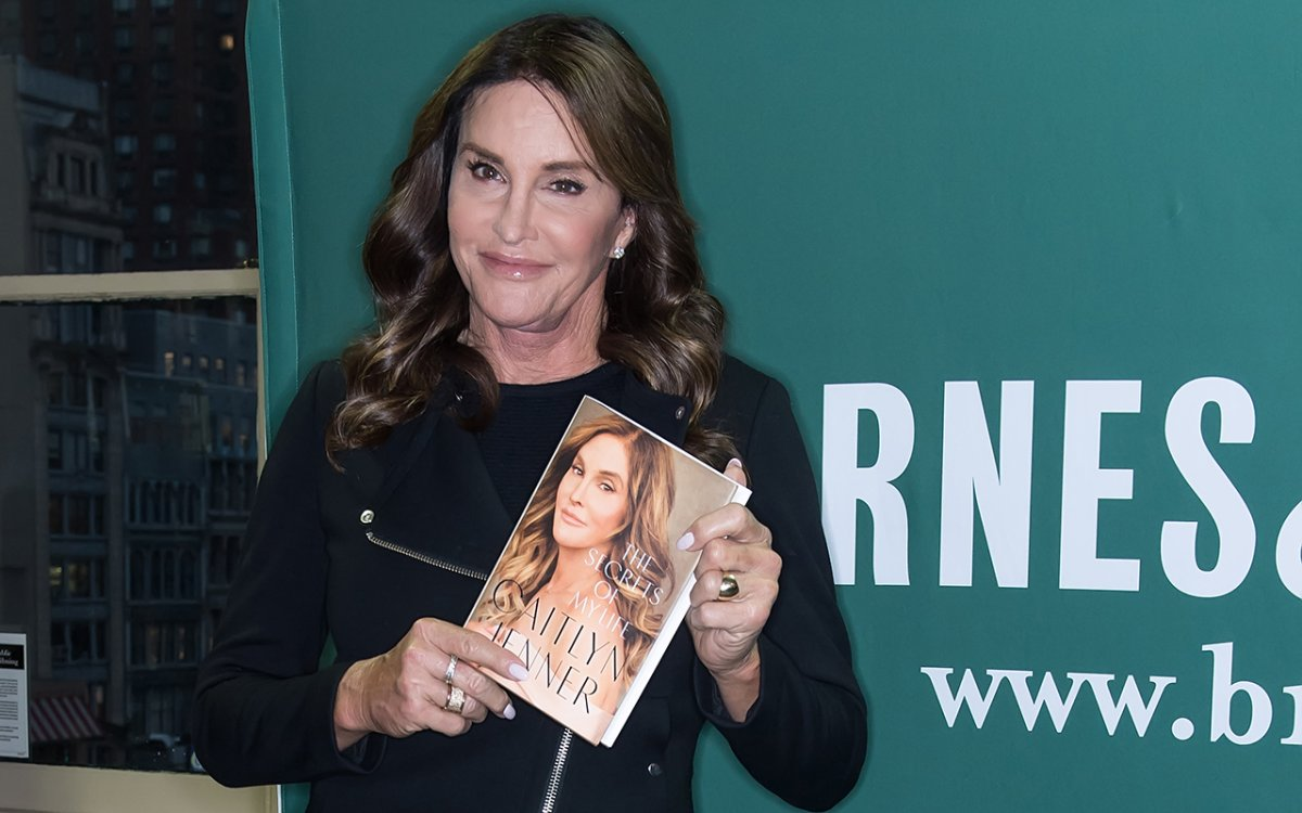 Caitlyn Jenner signs copies of her new book 'The Secrets of My Life' at Barnes & Noble Union Square on April 26, 2017 in New York City.