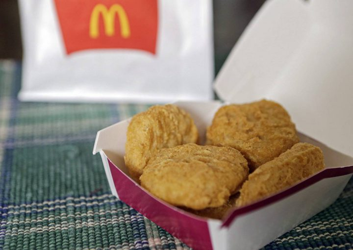 In this March 4, 2015 file photo, an order of McDonald's Chicken McNuggets is displayed for a photo in Olmsted Falls, Ohio.