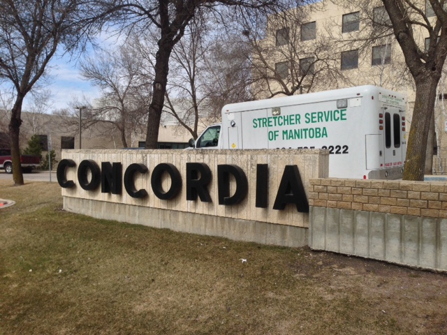 A woman and a child were assaulted as they were walking into Concordia Hospital on the weekend.