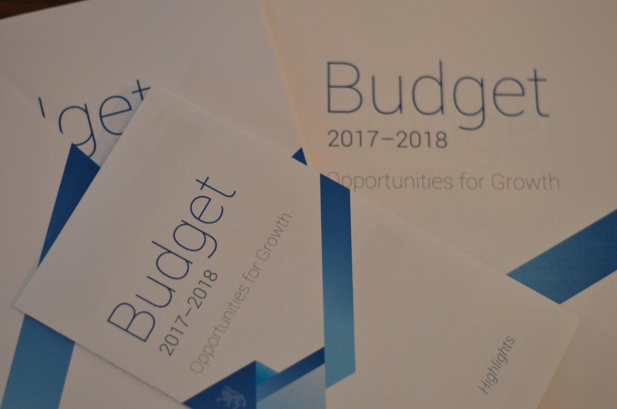 The Nova Scotia 2017-2018 budget was presented on April 27, 2017.