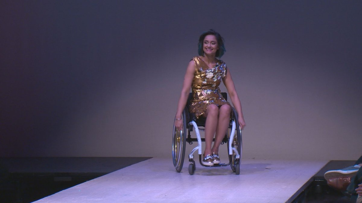 Edmontonians with diabilities share the cat walk at Western Canada Fashion Week.