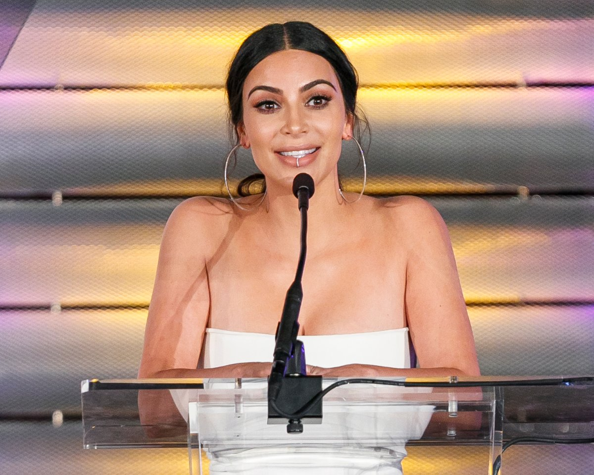 Television personality Kim Kardashin speaks onstage at the Family Equality Council's Impact Awards at the Beverly Wilshire Hotel on March 11, 2017 in Beverly Hills, California.