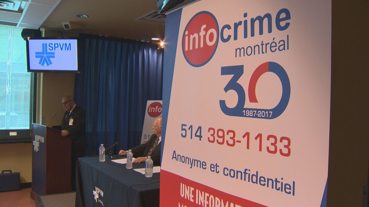 Info-Crime Montreal celebrated its 30th anniversary at police headquarters. April 28, 2017.