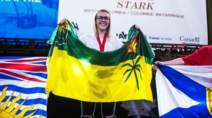 Henry soon discovered she had a flare for the trade and won gold at the 2016 Skills Canada National Competition (SCNC).