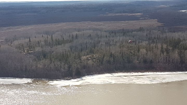 RCMP have confirmed they recovered the body of one of four missing hunters in northern Alberta. This photo from the search effort April 26, 2017.