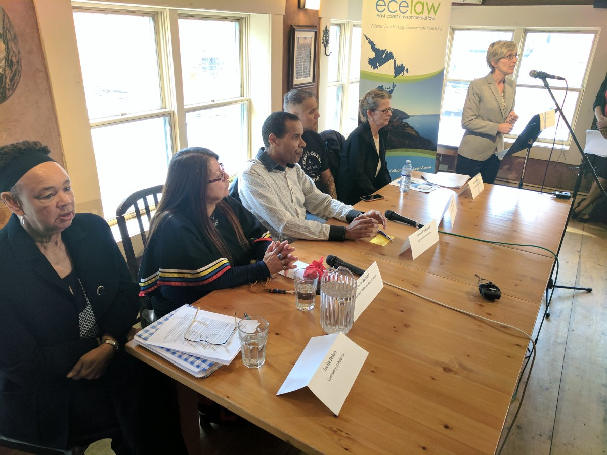 A group of speakers in Halifax talked about why a Nova Scotia environmental bills of rights is important to them on April 21, 2017.