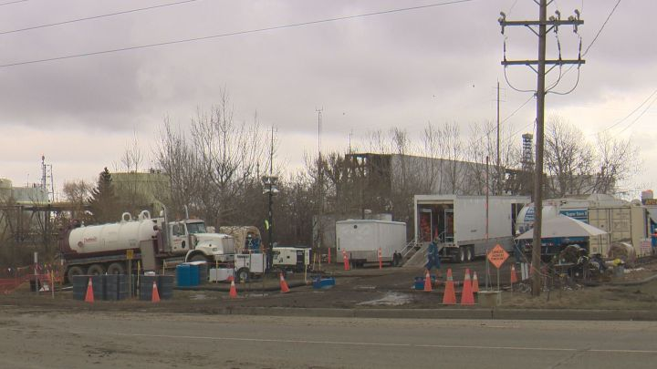Inter Pipeline is cleaning up an oil leak near its Strathcona Terminal.