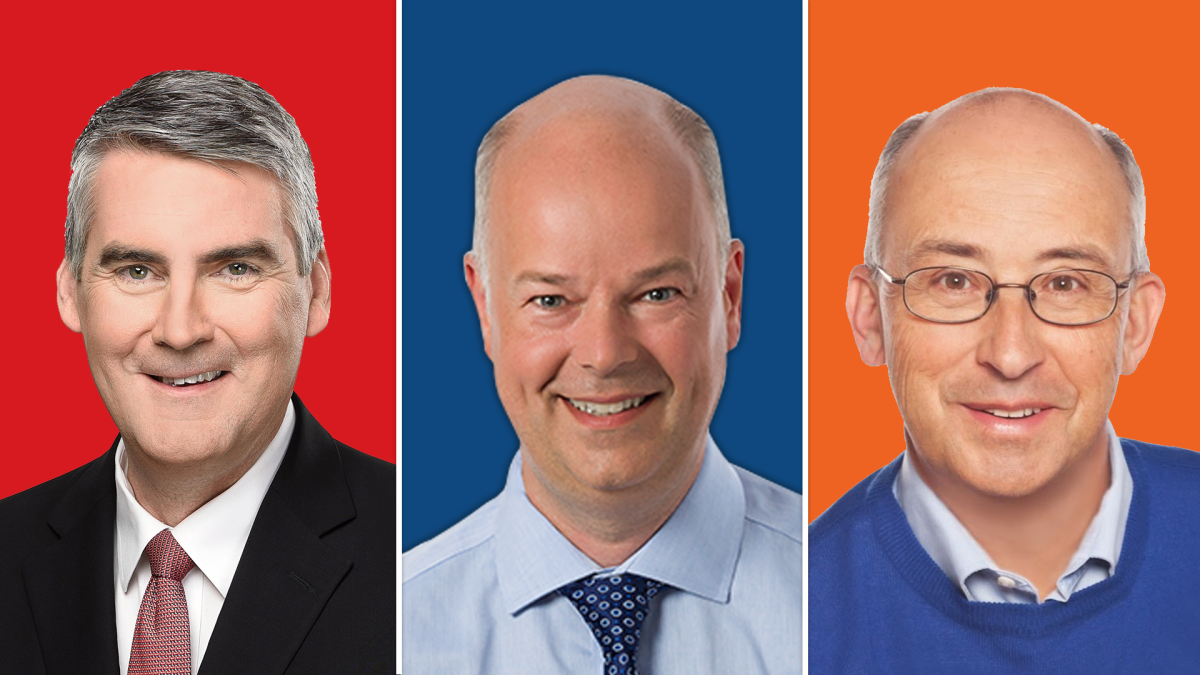 From left to right Nova Scotia's three main party leaders are Liberal Stephen McNeil, Progressive Conservative Jamie Baillie, and New Democrat Gary Burrill. Nova Scotians will elect their next government on May 30.