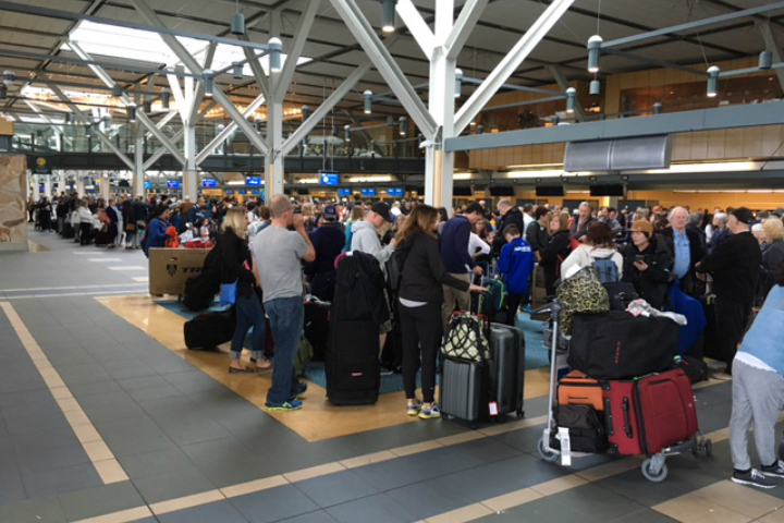 Richmond RCMP encourages passengers to go directly to baggage claims immediately upon arrival.