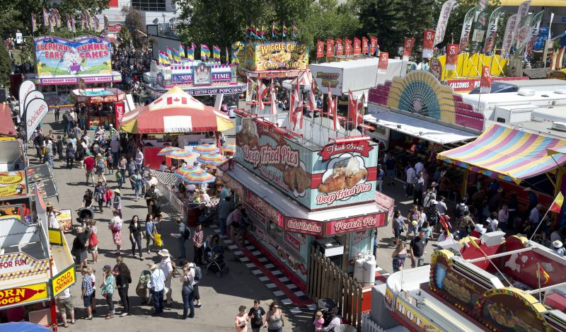 The Calgary Stampede grounds at Calgary, Alberta on July 6, 2014 during the Calgary Stampede.