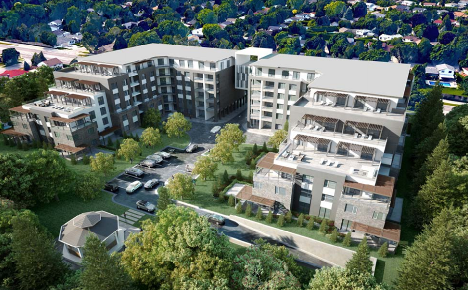 A rendering of a proposed development at 420 Fanshawe Park Rd. in London, Ont.