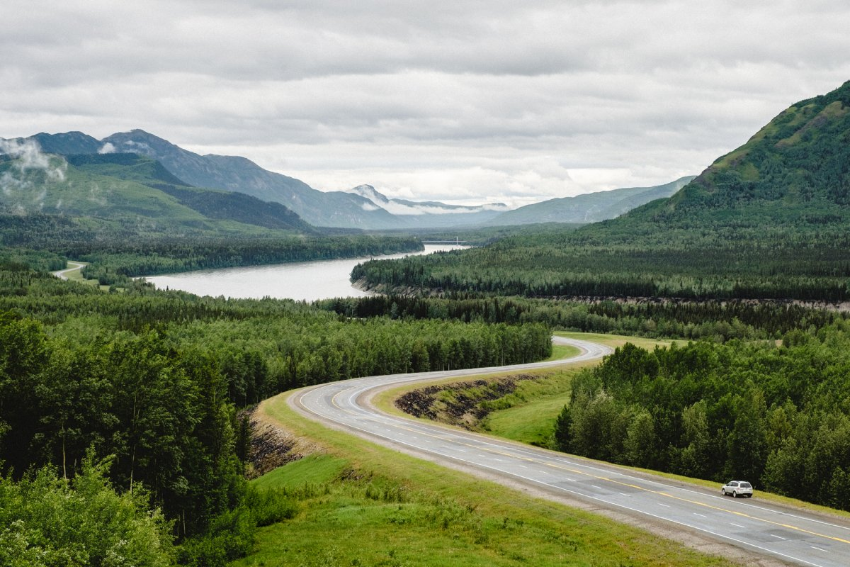 Liard Valley on the Alaska Highway.