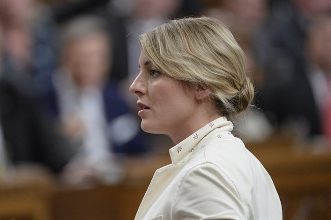 Heritage Minister Melanie Joly responds to a question during question period in the House of Commons on Parliament Hill in Ottawa on Wednesday, May 31, 2017. THE CANADIAN PRESS/Adrian Wyld.