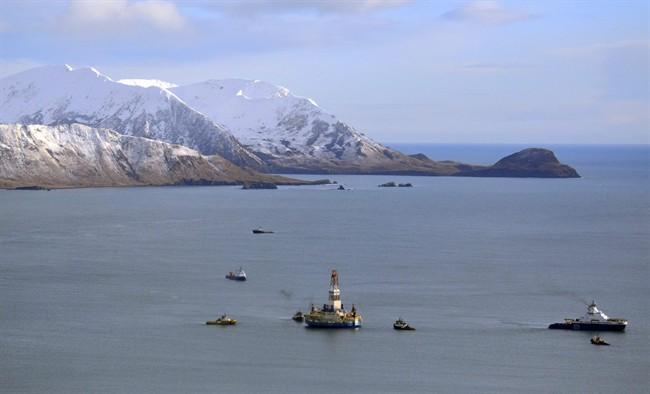 This Jan. 7, 2013, file photo, shows the Shell floating drill rig Kulluk in Kodiak Island, Alaska's Kiliuda Bay.