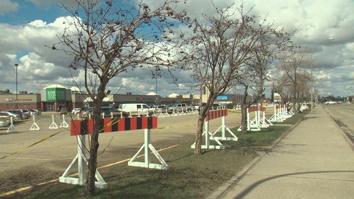 The City of Edmonton began construction on the Bonnie Doon LRT stop Monday, May 1, 2017.