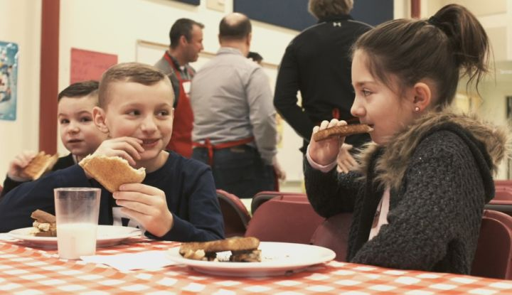 Dr. K A Clark Public School's breakfast program is bringing students together one year after the Fort McMurray wildfire.
