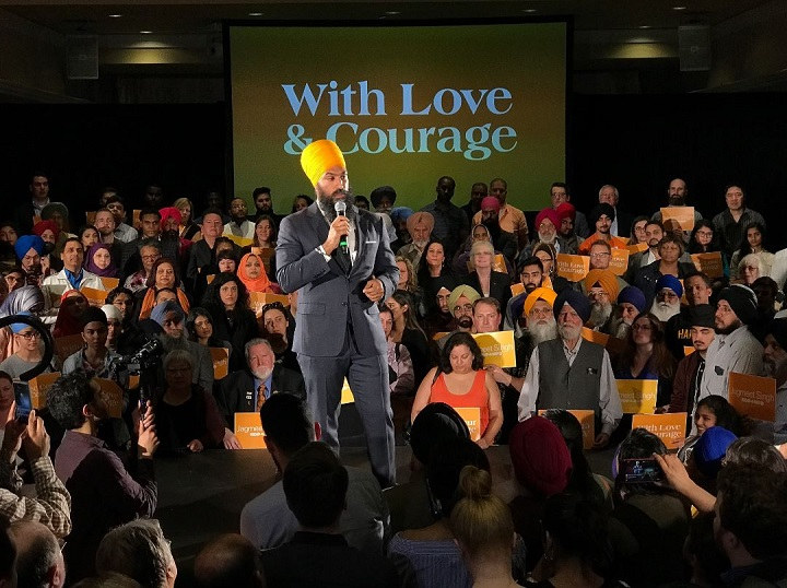 NDP leadership candidate Jagmeet Singh was confronted by protester at a meet-and-greet in Brampton this past weekend. The racially charged incident, and Singh's response to it, has helped Singh push past his his fellow leadership candidates in the polls.