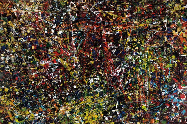 """The Jean Paul Riopelle painting """"Vent du nord"""" is shown in a handout photo."""