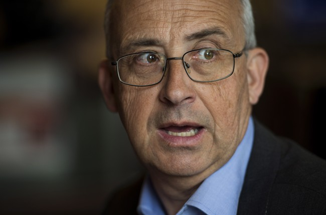 Nova Scotia NDP leader Gary Burrill during a campaign stop at a Tim Hortons in Halifax on Friday, May 5, 2017.