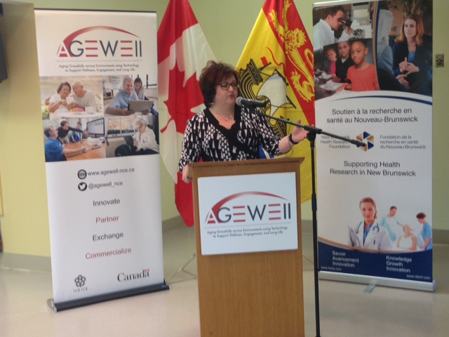 New Brunswick Minister of Seniors and Long-Term Care Lisa Harris, speaking at York Care Centre on May 16, 2017.