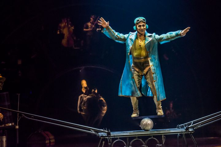 Still image from Cirque du Soleil's Kurios - Cabinet des Curiosites.