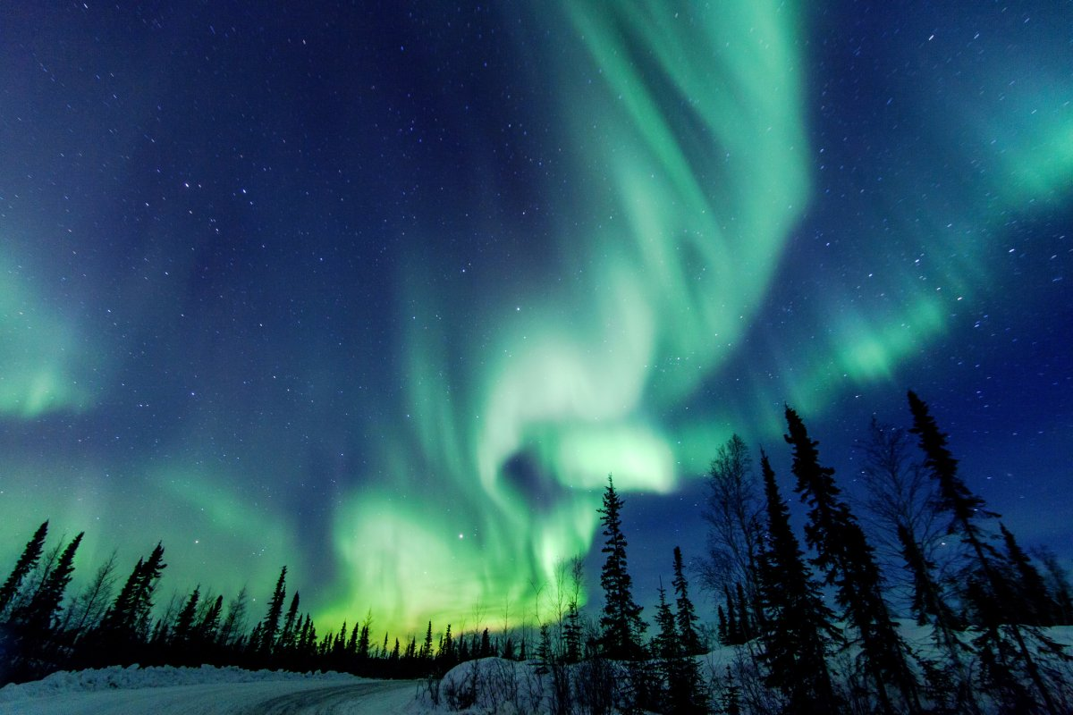 Aurora Borealis close to Yellowknife in the Northwest Territories in Canada. The northern lights can be seen from several regions within Canada, however the best view is up in Canada's north.