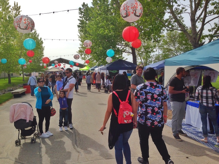 Hundreds were out Friday night at the Winnipeg Night Market.