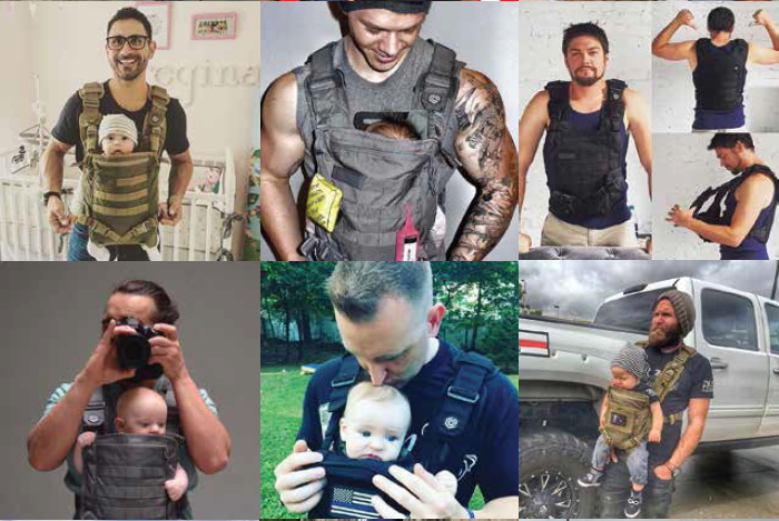 The Mission Critical Baby Carrier is the first to be designed from top to bottom with dad in mind, its manufacturer said.