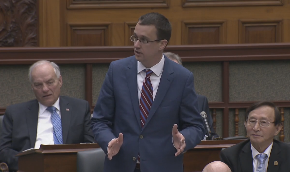 MPP Monte McNaughton at Queen's Park on May 18, 2017.