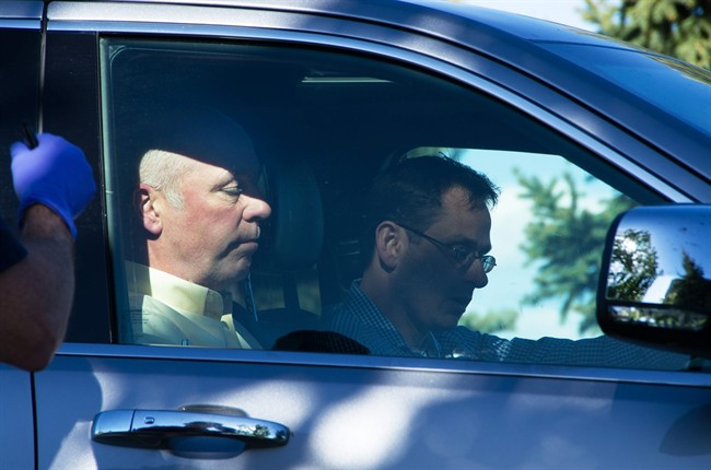 "Montana Republican candidate Greg Gianforte, seen here in a vehicle, reportedly ""body-slammed"" a reporter on the eve of the state's special election."