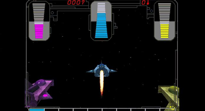 A screenshot from the video training game.